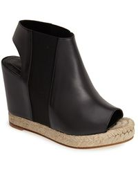 Balenciaga Slingback Espadrille Platform Sandal black - Lyst