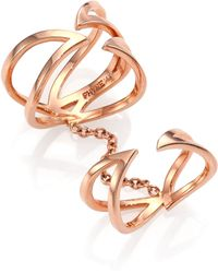 Phyne By Paige Novick - Stella 14k Rose Gold Winged Double Ring - Lyst