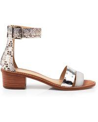 Loeffler Randall Leather And Snake Sandals - Henry - Lyst