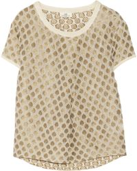 Day Birger Et Mikkelsen Aurora Metallic Embroidered Georgette Top - Lyst