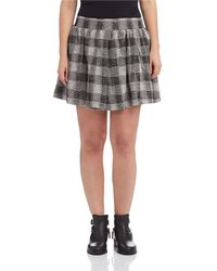 Free People Holly Go Lightly Plaid Skirt - Lyst