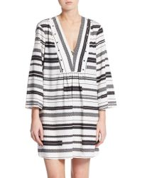Ivanka Trump - Striped Swim Cover-up - Lyst