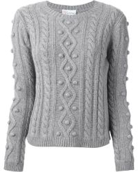RED Valentino Cable Knit Sweater - Lyst