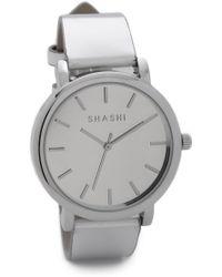 Shashi - Gleam Watch - White Gold - Lyst
