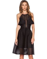 self-portrait Cropped-Overlay Dress - Lyst