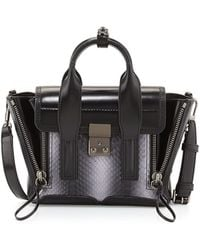 3.1 Phillip Lim Pashli Mini Snakeskin Satchel Bag - Lyst