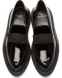 Saint Laurent Black Patent Leather Creepers - Lyst