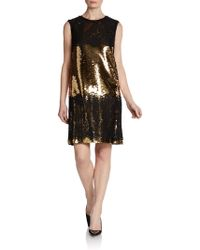 Dolce & Gabbana Sleeveless Lace Sequin Dress - Lyst
