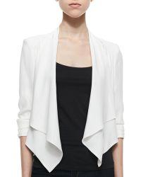 Amanda Uprichard - Wisteria Cascading Open Jacket Ivory Petite - Lyst