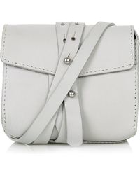 Topshop Womens Structured Leather Belt Bag  Grey - Lyst