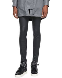 Current/Elliott Lambskin Ankle Skinny Pants - Lyst