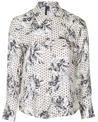 Topshop Geo-Rose Silk Shirt By Boutique - Lyst