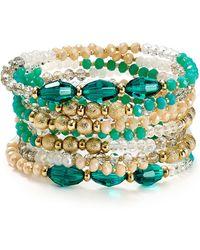ABS By Allen Schwartz - Beaded Bracelets, Set Of 9 - Lyst