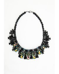 Missguided Allulia Gothic Style Beaded Statement Necklace Black - Lyst