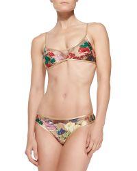 Zimmermann Haze Scalloped Meshtrim Bikini Set - Lyst
