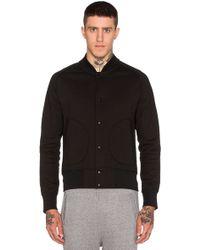 Steven Alan Heavyweight Varsity Jacket - Black