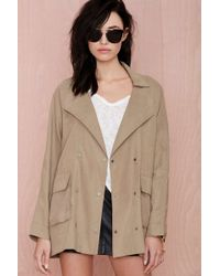 Nasty Gal Annalise Double Breasted Anorak - Lyst