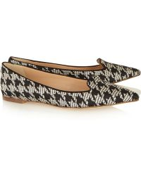 J.Crew Houndstoothjacquard Pointtoe Flats - Lyst