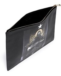 Givenchy Madonna Print Large Flat Zip Pouch black - Lyst