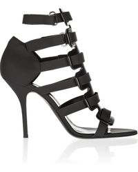 Pierre Hardy Polished and Coated Matteleather Sandals - Lyst