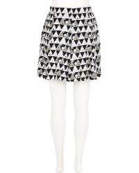 River Island Black Chelsea Girl Triangle Print Skirt - Lyst