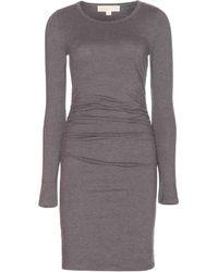 MICHAEL Michael Kors Ruched Jersey Dress - Lyst