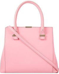 Victoria Beckham Quincy Buffalo Leather Tote - Lyst