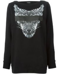 Marcelo Burlon Printed Backless Sweatshirt - Lyst