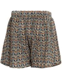 Liberty - Navy Cotton Boxer Shorts - Lyst