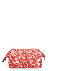 Tory Burch Printed Large Molded Cosmetic Bag - Lyst