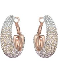 Swarovski Abstract Rose Goldtone Crystal Hoop Earrings - Lyst