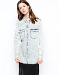 Cheap Monday 90s Wash Denim Shirt - Lyst
