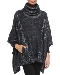 Christopher Fischer Theodora Cable Poncho - Lyst