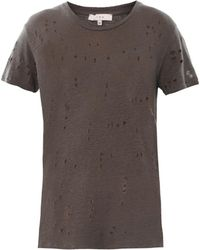 Iro Clay Hole Distressed Tshirt - Lyst