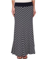 Karen Kane Mitered Stripe Maxi Skirt - Lyst