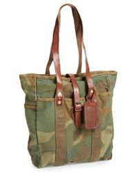 Polo Ralph Lauren Camo Canvas Tote - Lyst