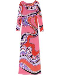 Emilio Pucci Long Dress pink - Lyst