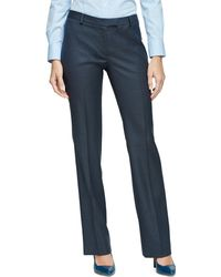 Brooks Brothers Lucia Fit Plaid Wool Trousers - Lyst