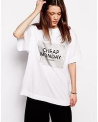 Cheap Monday Big Tshirt - Lyst