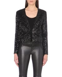 Maje All-over Sequin Blazer - Lyst