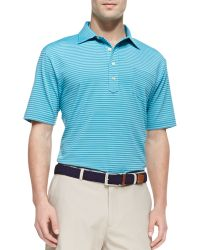 Peter Millar E4 Maritime Striped Polo Blue - Lyst