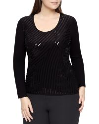 Windsmoor - Sequined Jersey Top - Lyst