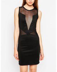 Pop Cph - Neoprene Cut-out Dress - Lyst