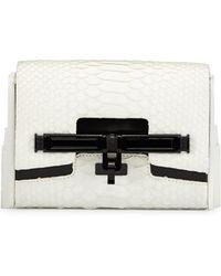 Kara Ross - Lux Mini Python Shoulder Bag - Lyst
