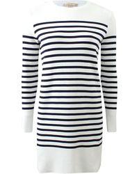 Michael Kors Striped T-Shirt Dress - Lyst