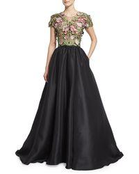Marchesa | Floral Silk Ballgown | Lyst