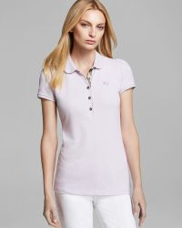Burberry Brit Ruffle Sleeve Polo Shirt - Lyst