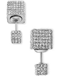 Vita Fede Double Cubo Crystal Earrings  - Lyst