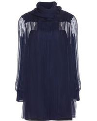 Miu Miu Chiffon Silk Dress - Lyst