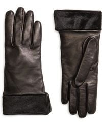 Brooks Brothers Black Leather Gloves - Lyst